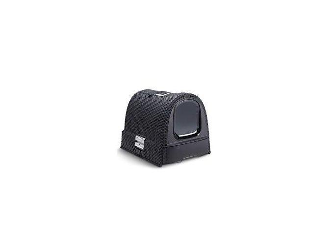 WC pre mačky kryté domček Rattan 39x39x51cm