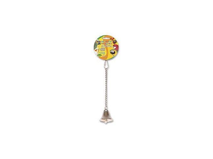 Hračka pre papagáje zvonček kovový 25cm