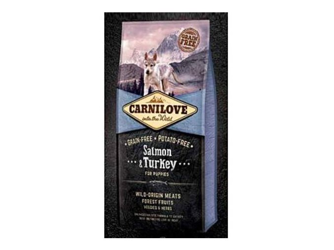 carnilove dog salmon turkey for puppies new 12kg