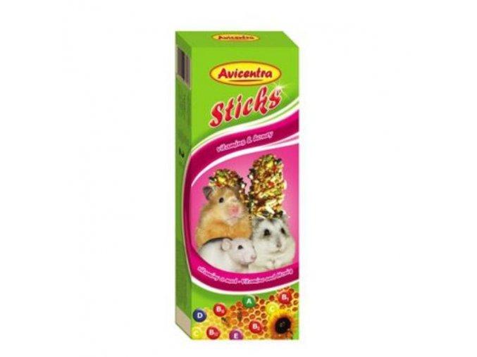 Avicentra tyčinky malý hlodavec - vitam.+med 2ks