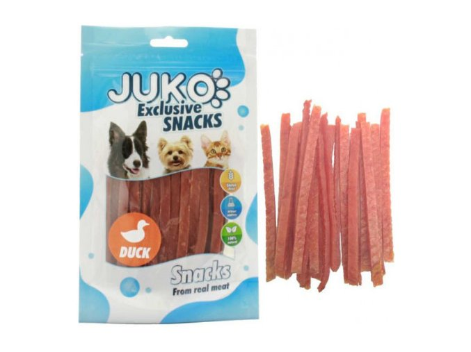 juko excl smarty snack duck strips 250g