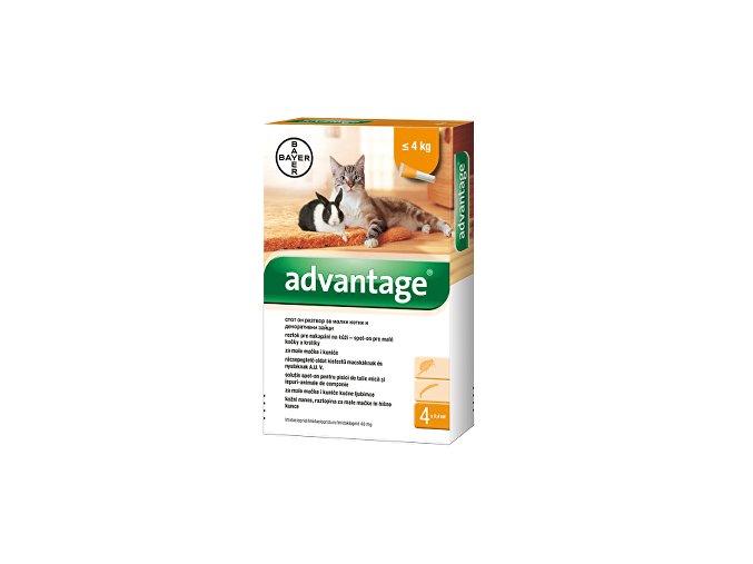Advantage 40 10% 1x0,4ml pre mačky do 4kg