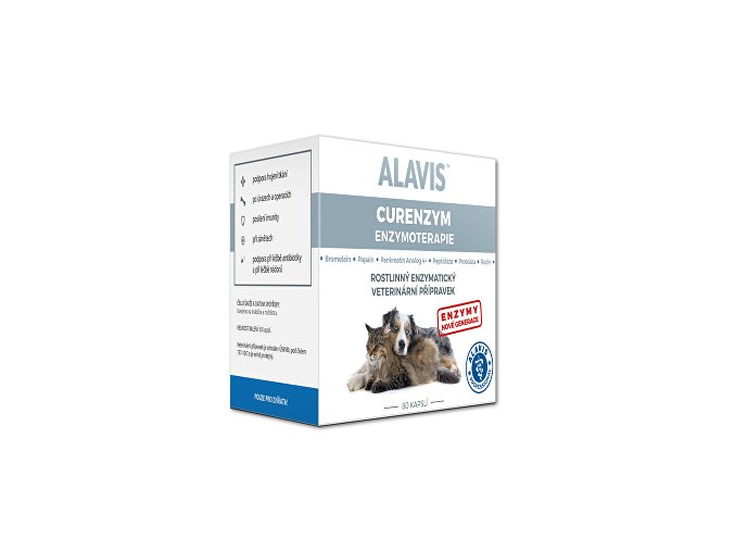 Alavis Enzymoterapia-Curenzym pre psov a mačky 80cps