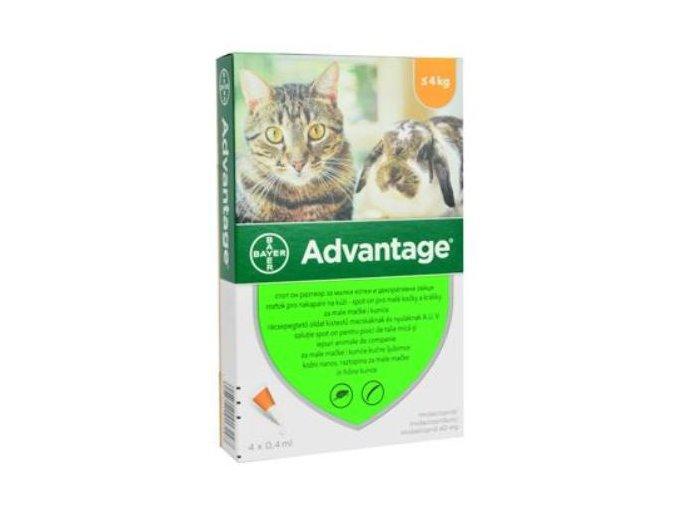 Advantage 40 10% 4x0,4ml pre mačky do 4kg