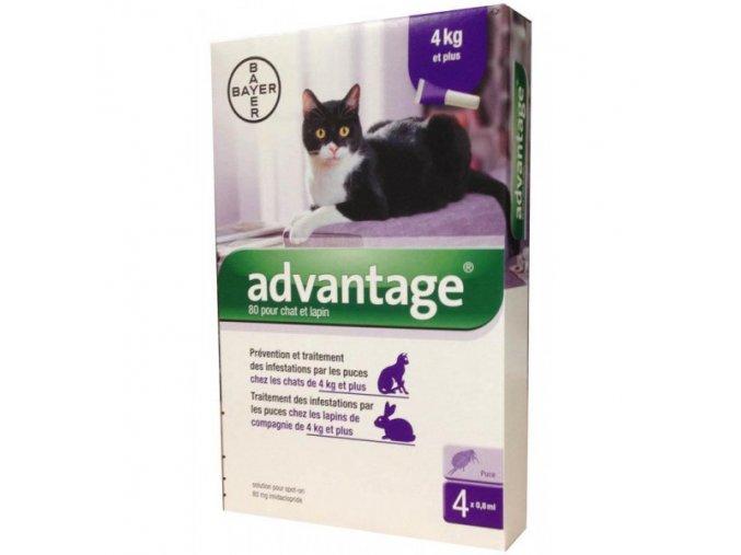 Advantage 80 10% 4x0,8ml pre mačky nad 4kg