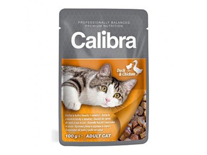 Calibra Cat kapsa kačacie a kuracie v omáčke 100g