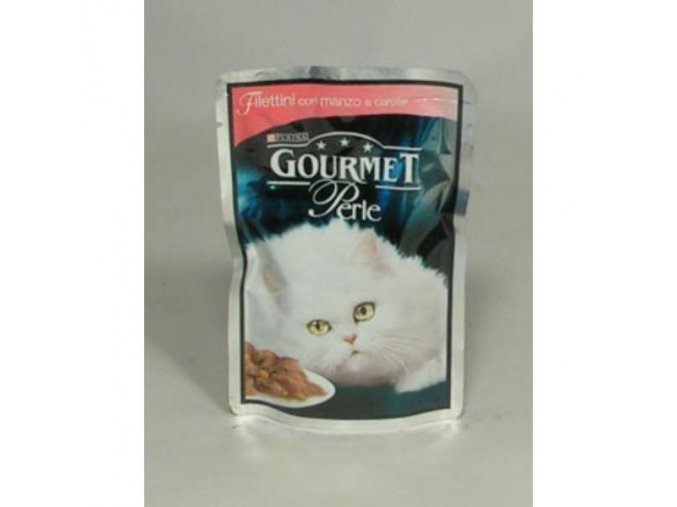 Gourmet Perle kapsa hovädzie+mrkva 85g