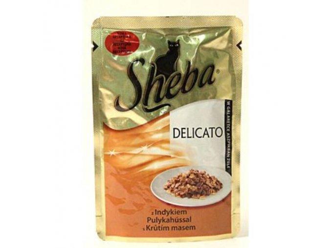 Sheba kapsa Delicato morčacie v želé 85g