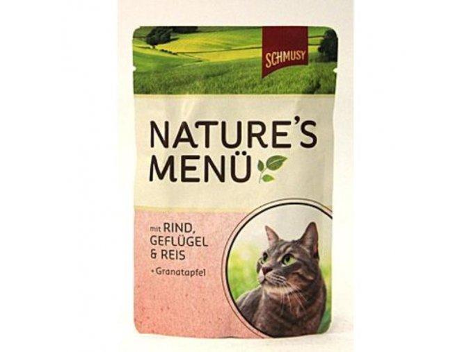 Schmusy Cat Nature Menu kapsa hovädzie+kuracie 100g