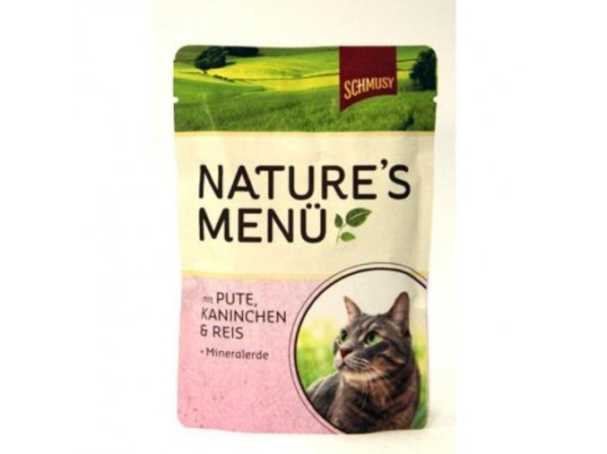 Schmusy Cat Nature Menu kapsa morka+králik 100g