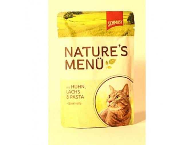 Schmusy Cat Nature Menu kapsa kura+losos 100g