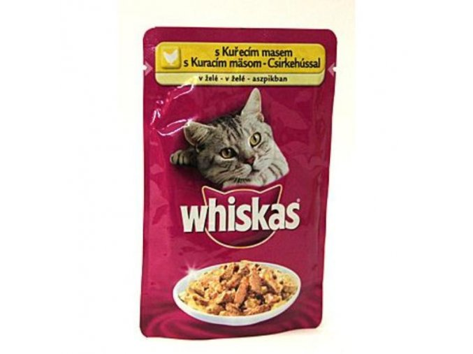 Whiskas kapsa s kuracím v želé 100g
