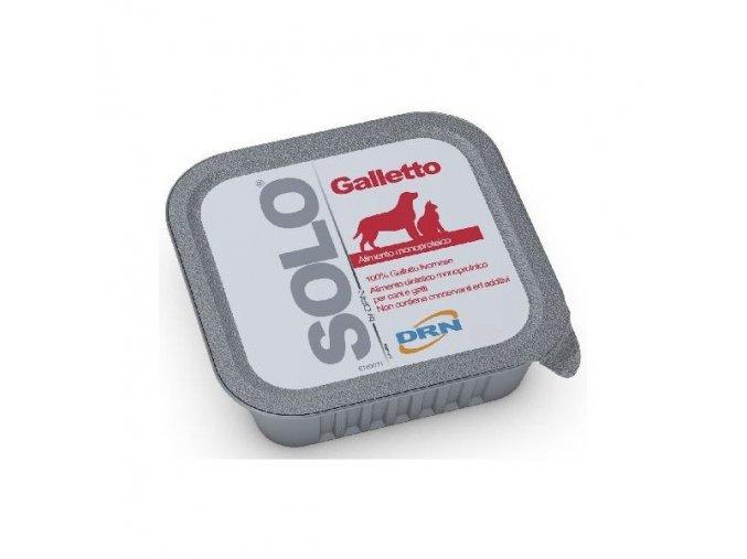 SOLO Galleto 100% (kohútik) vanička 300g