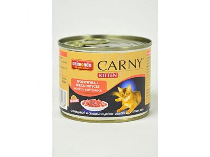 Animonda Carny Kitten konz. hovädzia+morčacie srdce 200g