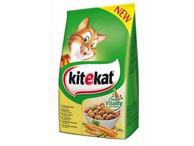 Kitekat Dry kuracie so zeleninou 1,8kg