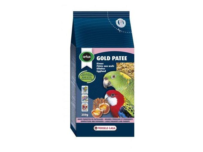 Gold Patee Parakeets and Parrots - pre stredné a veľké papagáje s hmyzom, krevetami, šípkami, jarabinou, hrozienkami