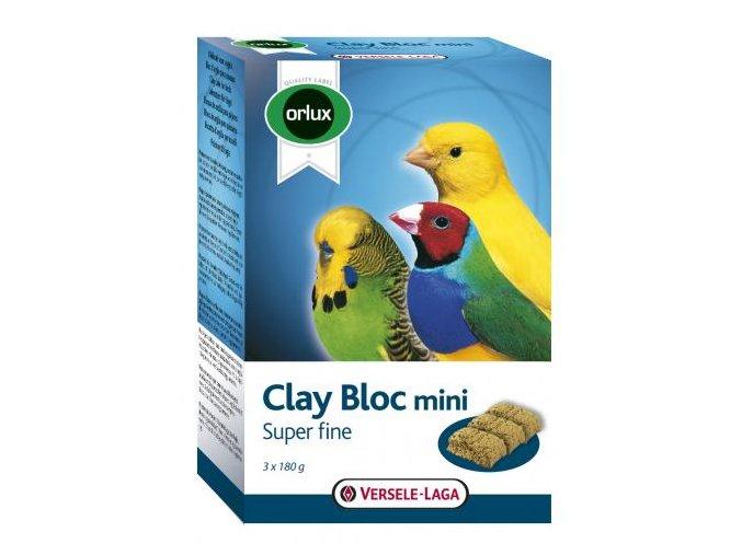 Clay Bloc Mini - jemnějšia ílová tehla delená pre menšie druhy vtákov 540g