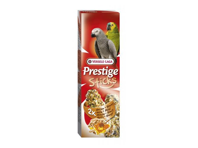 Prestige Sticks Parrots Nuts & honey - 2 tyčinky pre veľké papagáje s medom a orechami 140g