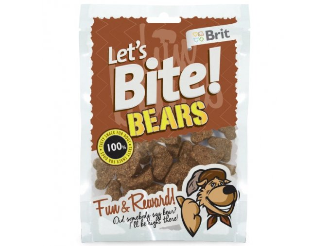Brit pochúťka Let's Bite Bears 150g