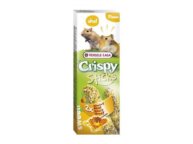 Crispy Sticks Honey - med, škrečok / pieskomil 110g