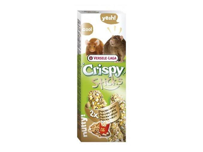 Crispy Sticks Popcorn & nuts - kukurica a oriešky, potkan / myš 110g