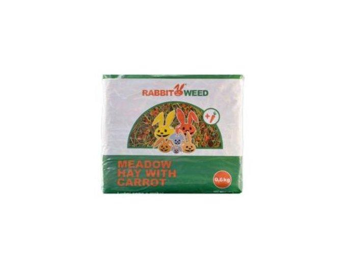 Seno lúčne s mrkvou RabbitWeed 0,6kg