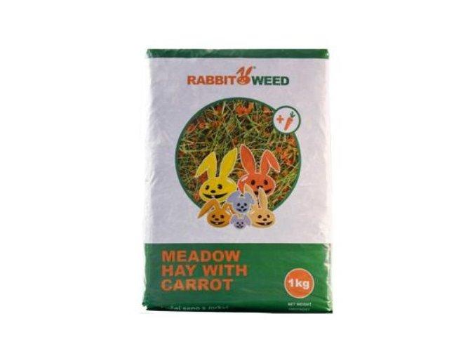 Seno lúčne s mrkvou RabbitWeed 1kg