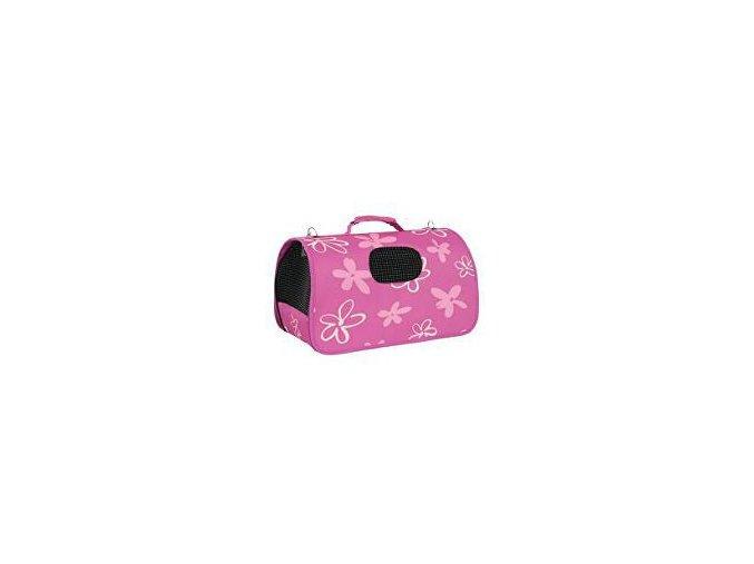 Taška cestovná Flower S ružová 21x36x24cm Zolux