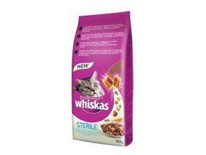 Whiskas Dry s kuracím mäsom - STERILE 14kg