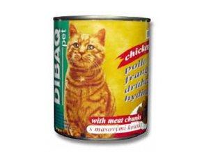 Dibaq Pet mačka konz. hydinové 810g