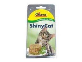 Gimpet konz. ShinyCat tuniak/mačacia tráva 2x70g
