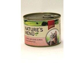 Schmusy Cat Nature Menu konzerva hovädzie + hydina 190g