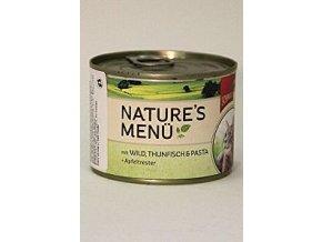 Schmusy Cat Nature Menu konzerva zverina + tuniak 190g