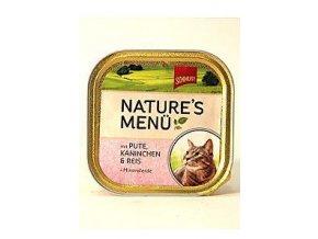 Schmusy Cat Nature Menu vanička morka + králik 100g