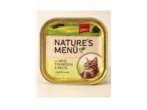 Schmusy Cat Nature Menu vanička zverina + tuniak 100g