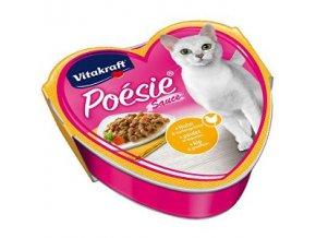 Vitakraft Cat poesie vanička šťava kurča a zel. 85g