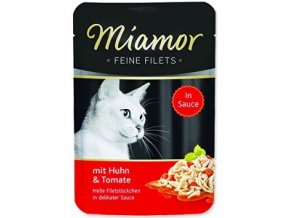 Miamor Cat Filet kapsa kura + paradajka v šťave 100g