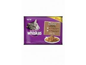 Whiskas kapsa Delice dusené hydinové Bonus 4pack 85g
