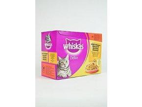 Whiskas kapsa Delice grilované mäso 12x85g