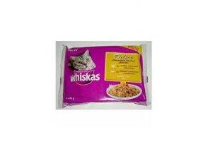 Whiskas kapsa Delice grilované mäso Bonus 4pack 85g