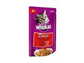 Whiskas kapsa Delice grilované s hovädzím 85g