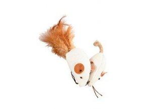 Hračka myš biela 2 x 4 cm textil Zolux