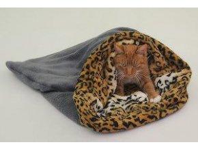 Spací vak 3v1 XL tm.šedá / leopard