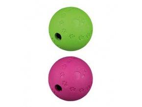 Hračka pes lopta s otvorom na krmivo 12cm TR
