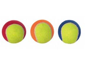 Hračka pes lopta tenisák farebný s labkou 6,5cm TR