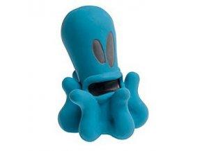 Hračka pes príšerka chobotnica modrá 12cm latex