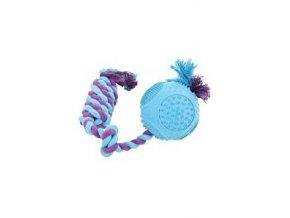 Hračka pes ROPE BALL gumový 33cm mix farieb