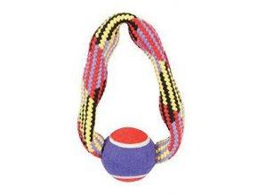 Hračka pes tenisová loptička lano kruh 23cm Zolux