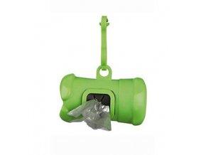 Puzdro plastové + sáčky na psie exkrementy mix farieb