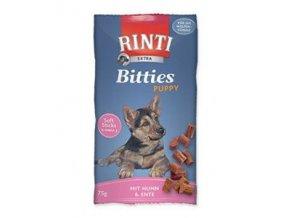 Rinti Dog Extra Bits Puppy kura + hovädzie 75g